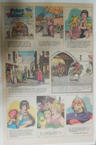 Prince Valiant Sunday #1653 by Hal Foster from 10/13/1968 Rare Full Page Size !