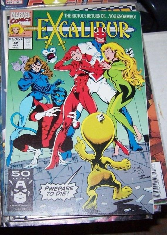 Excalibur #42 (Oct 1991, Marvel) NIGHTCRAWLER PHOENIX PSYLOCKE KITTY pride