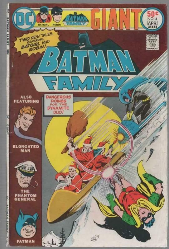 BATMAN FAMILY 4 VG April 1976