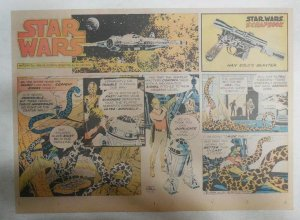 Star Wars Sunday Page by Al Williamson from 10/18/1981 Large Half Page Size!