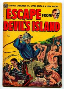 ESCAPE FROM DEVIL'S ISLAND #1 1952-AVON-EVERETT RAYMOND KINSTLER-G/VG