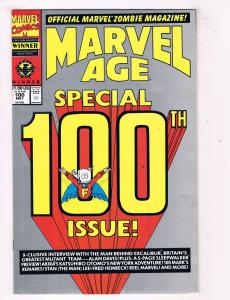 Marvel Age Special #100 Comic Book Alan Davis Interview Official Zombie Mag HH1