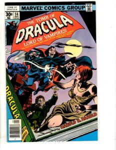 Tomb Of Dracula # 56 NM Marvel Comic Book Vampire Monster Horror Fear Scary TD7