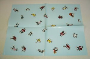 Robert Crumb poster from 1994 - 18 x 24 - blue wrapping paper - fritz the cat