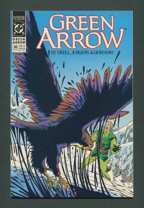 Green Arrow #30  / 9.4 NM  - 9.6 NM+  /  March 1990