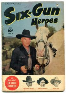 Six-Gun Heroes #2 1950 -HOPALONG CASSIDY-GOLDEN AGE WESTERN VG-
