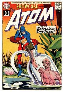 SHOWCASE COMICS #34 FIRST SILVER AGE ATOM-GIL KANE-1961 FN