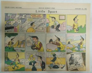 Little Sport Sunday Page by Rouson from 1/21/1951 Pantomine Size:11 x 15 inches