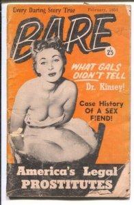 Bare #9 2/1954-Patti Waggin Burlesk Party-spanking-hot women in Marseilles-na...