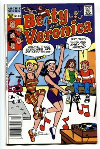 Betty and Veronica #36 comic book 1990 Spicy DeCarlo cover- Workout