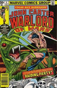 John Carter, Warlord of Mars #4 FN; Marvel | save on shipping - details inside