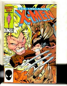 Uncanny X-Men # 213 NM- Marvel Comic Book Sabretooth Wolverine Cyclops HY1