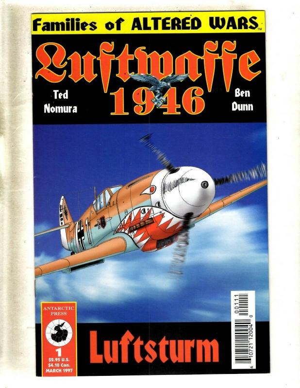 Lot Of 10 Luftwaffe 1946 Antarctic Press Comic Books # 1 2 3 4 5 6 7 8 9 10 FM8