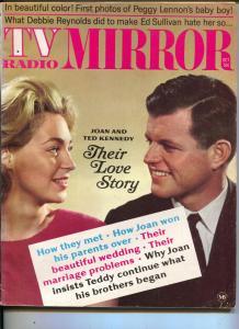 TV Radio Mirror-Ted-Joan Kennedy-Tiny Tim-Michael Landon-Dean Martin-Oct-1968