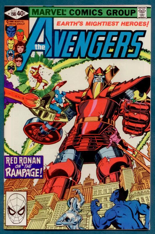 Avengers #198 NM 9.4  Perez c/a; Red Ronin; Hawkeye app.