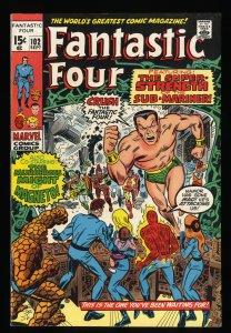 Fantastic Four #102 VF- 7.5 Marvel Comics