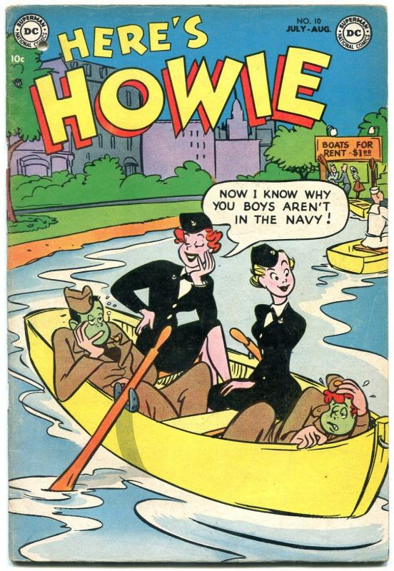 Here's Howie #10 1953- DC Golden Age Humor- Navy gag cover VG-