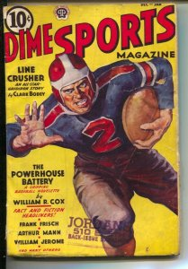 Dime Sports 12/1938-Popular--Football cover.-Boxing-track-basketball-baseball...