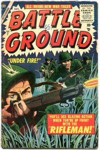 BATTLE GROUND #7, VG, 1954, Golden Age, Atlas, Rifleman,m ore GA in store
