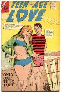 Teen-Age Love #53 1957- Charlton Romance- Swimsuit cover VG/F