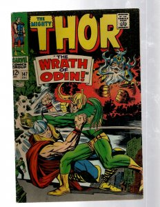 Mighty Thor # 147 VF- Marvel Comic Book Loki Odin Asgard Sif Avengers Hulk RB8