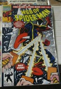 Web of spider-man # 85  1992 marvel name of the rose pt 2 -hobgoblin demagoblin