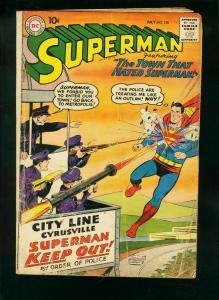 SUPERMAN #130 1959-2nd KRYPTO-OUTLAW SUPERMAN-BAZOOKA COVER-low grade copy FR/G