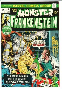 Monster of Frankenstein #1 1973- Marvel Horror- Ploog - VF