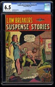 Lawbreakers Suspense Stories #11 CGC FN+ 6.5 Off White to White
