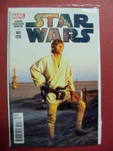 STAR WARS #001 PHOTO VARIANT 1:15 COVER NM 9.4 MARVEL 2015 SERIES