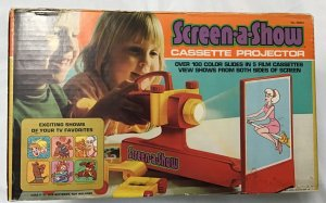 Kenner Screen-A-Show Cassette Projector with 6 cassettes, works