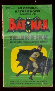 BATMAN vs. 3 VILLAINS OF DOOM PAPERBACK- 1966-ADAM WEST-good G
