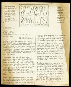 BOMBSHELL BULLETIN-1960'S-MARVEL FANZINE-RARE G