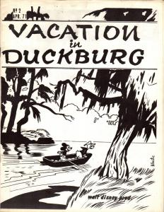 Vacation in Duckburg #2 April 1971 Disney Comic Book Fanzine w. Carl Barks Art+