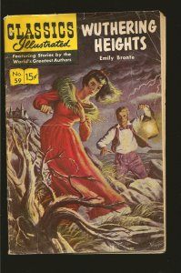 Classics Illustrated Wuthering Heights Emily Bronte #59 (1964) PLEASE SEE NOTE