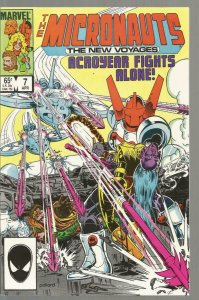 MICRONAUTS #7, NM-, New Voyages,  Marvel, 1984 1985  more Marvel in store