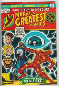 Marvel's Greatest Comics #41 (Mar-73) FN/VF Mid-High-Grade Fantastic Four, Mr...
