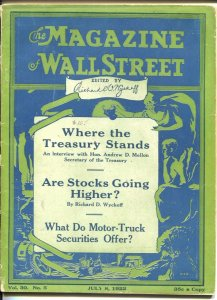 Magazine of Wall Street 7/9/1922-Are Stocks Going Higher-VG