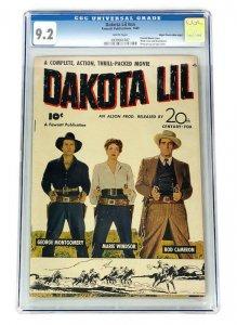 1949 DAKOTA LIL CGC 9.2 SINGLE HIGHEST GRADED! FAWCETT COMICS MILE HIGH PEDIGREE