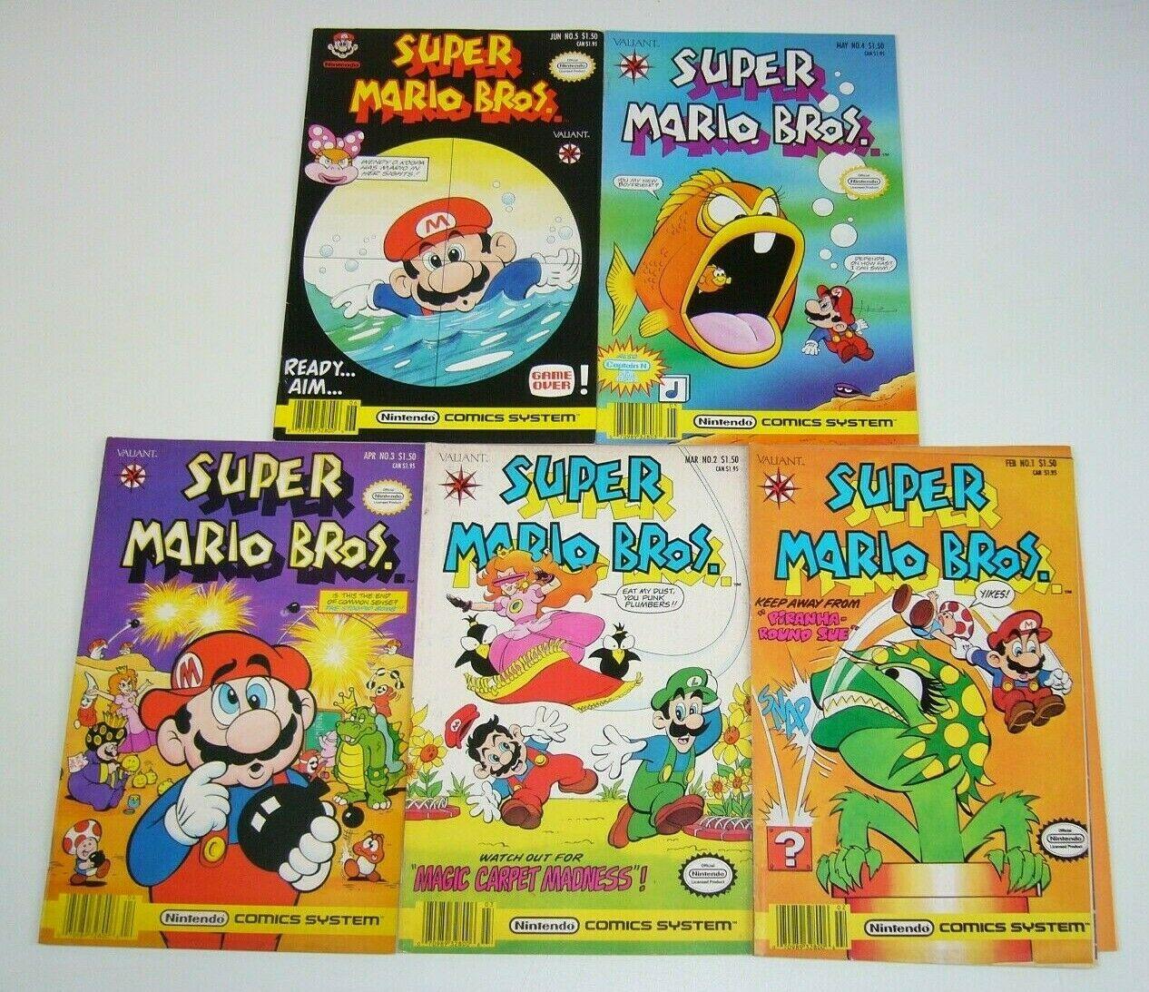Super Mario Bros 1 5 Vg Fn Complete Series Nintendo Brothers