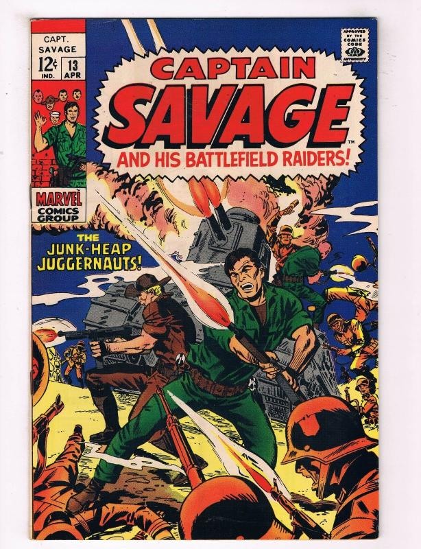 Capt Savage & His Leatherneck Raiders #13 VG/FN Marvel Comic Book DE37 TW7