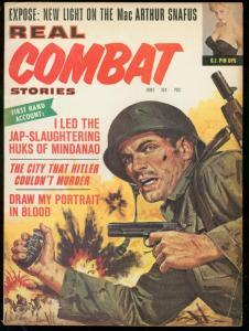 REAL COMBAT STORIES JUNE 1964-JAP SLAUGHTERING HUKS-WW2 FN
