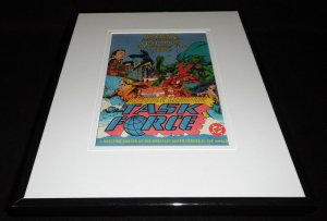 Justice League Task Force 1994 DC 11x14 Framed ORIGINAL Advertisement