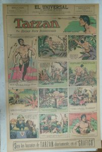 Tarzan Sunday Page #609 Burne Hogarth from 11/8/1942 in Spanish! Full Page Size