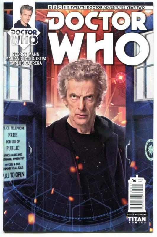 DOCTOR WHO #6 B, NM, 12th, Tardis, 2016, Titan, 1st, more DW in store, Sci-fi
