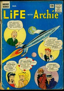 Life with Archie #19 1963- Rocket Cover- Betty Veronica G