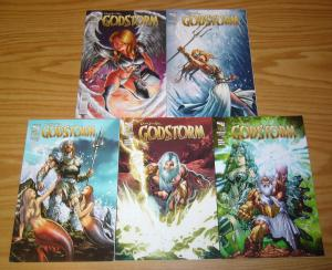 Grimm Fairy Tales Presents Godstorm #0 & 1-4 VF/NM complete series - zenescope