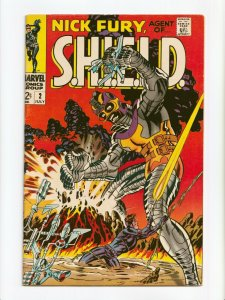 Nick Fury Agent of SHIELD #2 Marvel Comics 1968 FN/VF