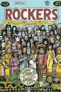 ROCKERS #7, VF/NM, Crabb, Rip Off Press, Beatles type cover, 1985 1989