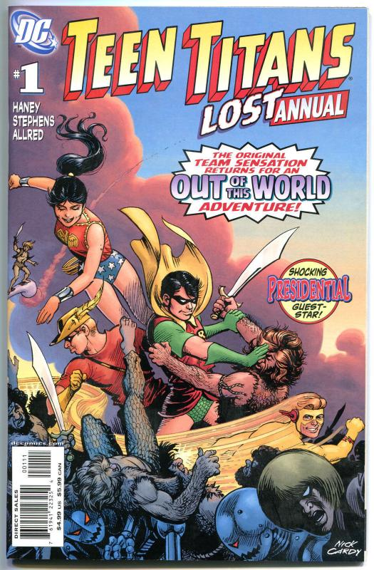 TEEN TITANS LOST annual #1, NM, Wonder Woman, Robin, 2008, more DC in store